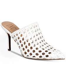 I.N.C. Women's Celestia Woven Leather Mules, Created For Macy's