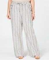 Planet Gold Trendy Plus Size Striped Soft Pants cc221970a