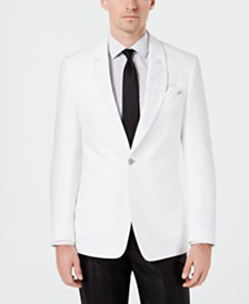 Tallia Men's Slim-Fit Embroidered Linen Sport Coat