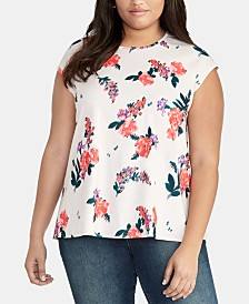 RACHEL Rachel Roy Plus Size Darcy Floral-Print Top