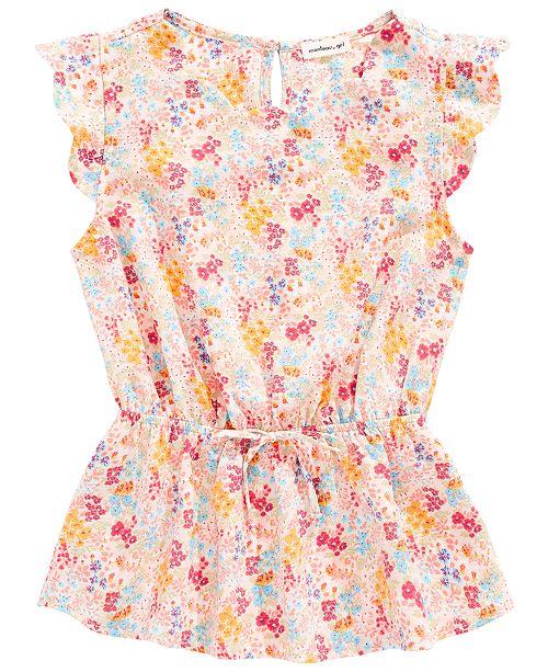 Monteau Big Girls Floral-Print Top