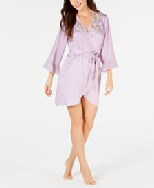 Linea Donatella Short Satin Wrap Robe