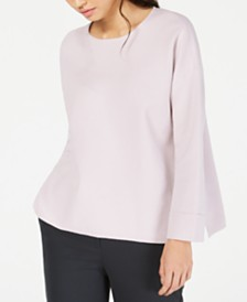 Eileen Fisher Scoop-Neck Boxy Top