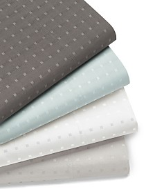 Woven Dot 6 piece Queen Sheet Set, 400 Thread Count Combed Cotton Blend