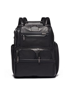 Alpha 3 Leather Compact Laptop Brief Backpack