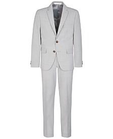 Lauren Ralph Lauren Big Boys Stretch Light Gray Suit Separates