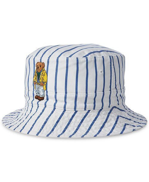 c5a1dbc30cb ... Bucket Hat  Polo Ralph Lauren Men s Reversible Crested Polo Bear Bucket  ...