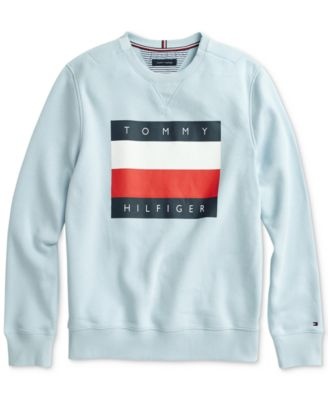 Tommy Hilfiger Mens Adaptive Crew Sweatshirt with Velcro Shoulder Closure Sweatshirt