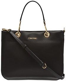Calvin Klein Sandra Leather Satchel