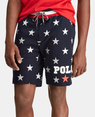 Men's Star-Print Double-Knit Americana Shorts, Created for Macy's