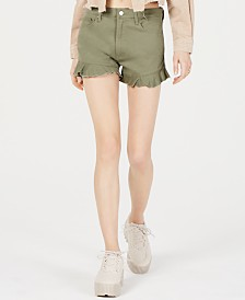 T.D.C. Topson Ruffled Denim Shorts