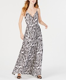 LEYDEN Printed Wrap Maxi Dress