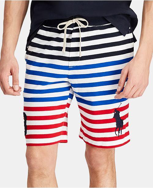 "Polo Ralph Lauren Men's Striped Mesh 9""  Americana Shorts"