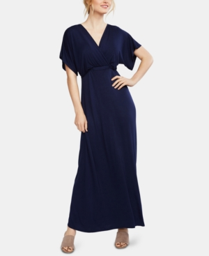 Vintage Maternity Clothing Styles 1910-1960 Motherhood Maternity Nursing Maxi Dress $59.98 AT vintagedancer.com