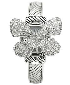 Women's Silver-Tone Flip Butterfly Bracelet Watch 30mm, Created for Macy's