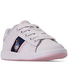 Polo Ralph Lauren Toddler Girls' Quilton Bear Casual Sneakers from Finish Line