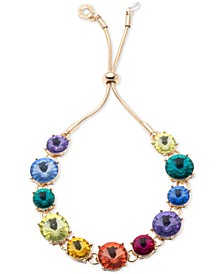 Gold-Tone Rainbow Slider Bracelet