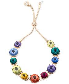 Anne Klein Gold-Tone Rainbow Slider Bracelet