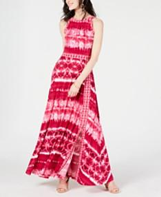 c1789870e I.N.C. Tie Dye Border-Print Maxi Dress, Created for Macy's. 2 colors