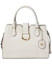 65caad9e0f Lauren Ralph Lauren Kenton Pebble Leather Satchel, Created for Macy's