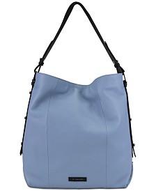 T Tahari Parker Leather Bucket Bag