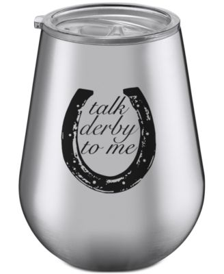 Thirstystone Talk Derby To Me Stainless Steel Stemless Wine Glass