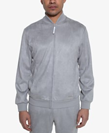Sean John Men's Faux Suede Flight Jacket
