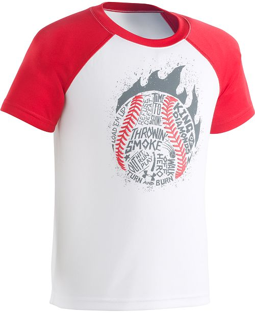 Under Armour Little Boys Throwin' Smoke Graphic T-Shirt