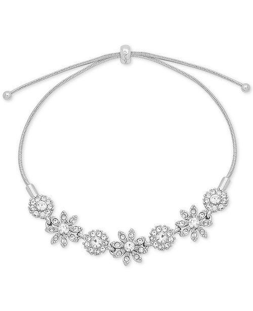 Givenchy Crystal Flower Slider Bracelet