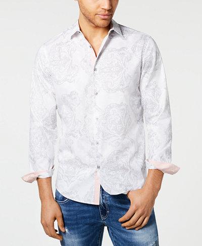 I.N.C. Men's Frederick Paisley Shirt, Created for Macy's