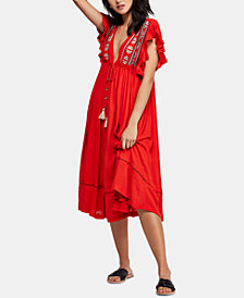 Free People Will Wait For You Embroidered Midi Dress