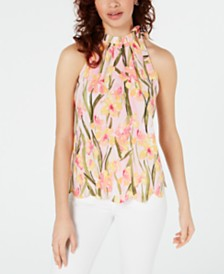 Maison Jules Scalloped Halter Top, Created for Macy's