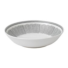 Crafted by Royal Doulton Charcoal Grey Lines Pasta Bowl