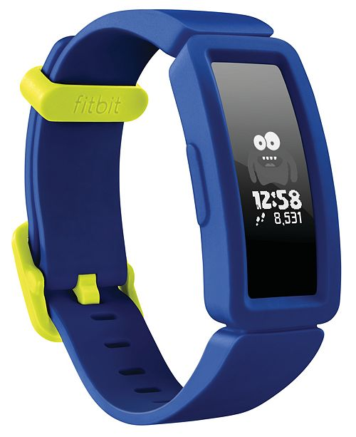 Fitbit Kid's Ace 2 Activity Tracker Night Sky Silicone Strap Smart Watch 20.5mm