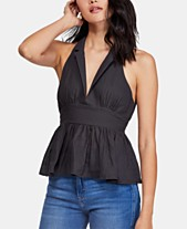 fbb8ebc17ab Free People Born To Be Yours Cotton Peplum Top