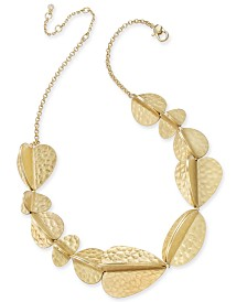 "Kate Spade New York  Gold-Tone Petal Collar Necklace, 16"" + 3"" extender"
