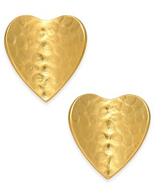 kate spade new york Gold-Tone Petal Stud Earrings