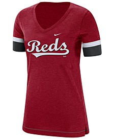 Women's Cincinnati Reds Tri-Blend Fan T-Shirt