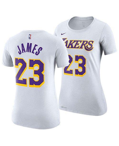 half off b1074 d9226 Nike Women's LeBron James Los Angeles Lakers Player T-Shirt