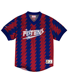 Mitchell & Ness Men's Detroit Pistons Kicking It Wordmark Mesh T-Shirt