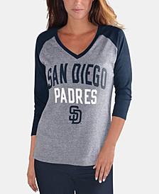 Women's San Diego Padres It's a Game Raglan T-Shirt