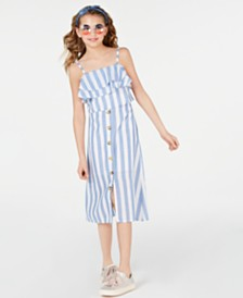Rare Editions Big Girls 2-Pc. Striped Dress