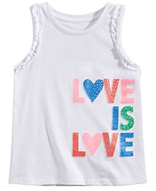 Little Girls Love is Love Graphic Tank Top, Created for Macy's