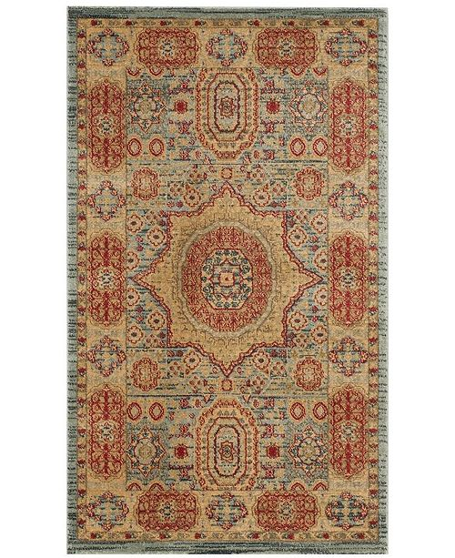 Safavieh Mahal Navy and Red 3' x 5' Area Rug