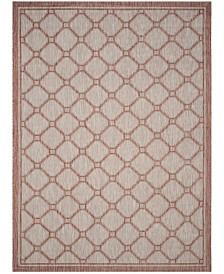 Safavieh Courtyard Red and Beige 8' x 11' Sisal Weave Area Rug
