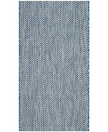 "Safavieh Courtyard Navy and Gray 2' x 3'7"" Sisal Weave Area Rug"