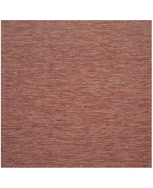 "Safavieh Courtyard Red 6'7"" x 6'7"" Sisal Weave Square Area Rug"