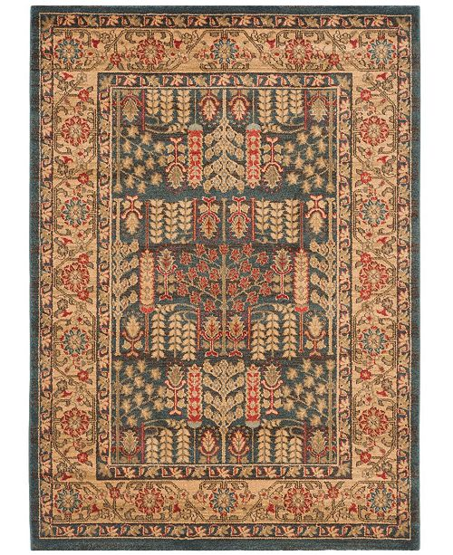 """Safavieh Mahal Navy and Natural 6'7"""" x 6'7"""" Square Area Rug"""