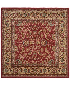"Safavieh Mahal Red and Natural 6'7"" x 6'7"" Square Area Rug"