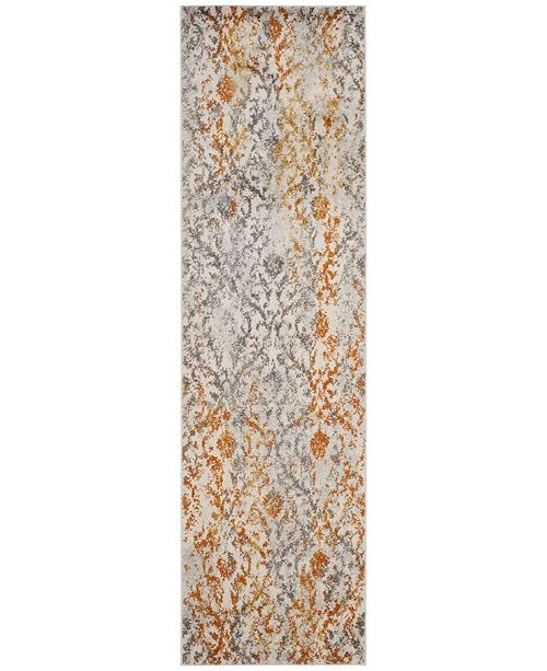 "Safavieh Madison Cream and Orange 2'3"" x 10' Runner Area Rug"